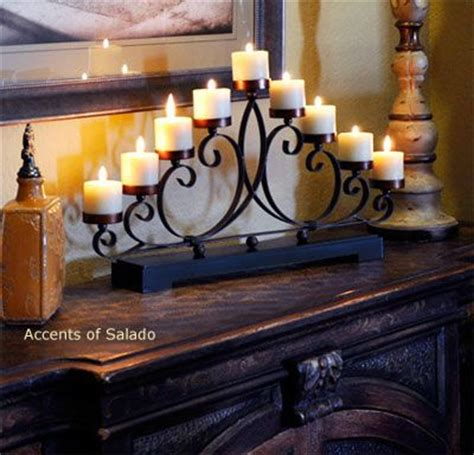 iron candle holder home decor accessories and