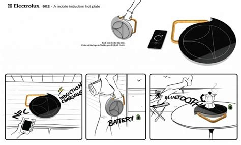 mobile induction heat plate electrolux design lab 2011 top 25 semifinalists mdolla