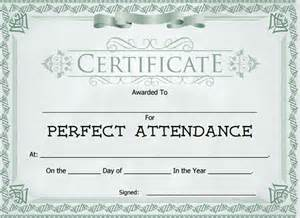 certificate of attendance sle template attendance award free