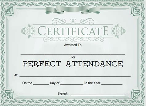perfect attendance award free download