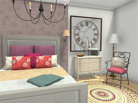 wallpaper accent wall bedroom bedroom ideas roomsketcher