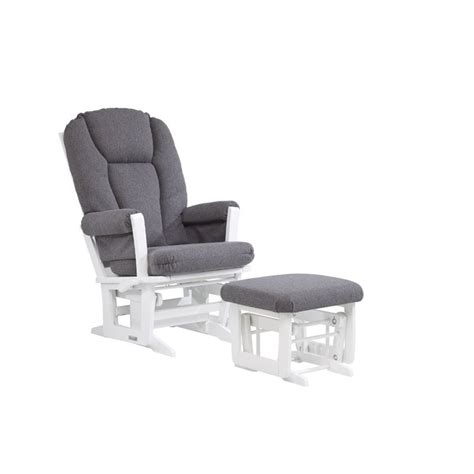 dutailier glider and ottoman set dutailier multiposition glider and ottoman set in gray