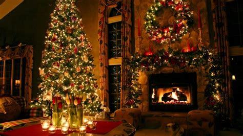 christmas decorated houses architecture wallpapers hd guirnaldas de luces ramas papel flores para navidad