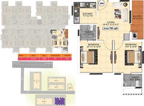 ideal homes floor plans 709 sq ft 2 bhk 2t apartment for sale in vijay raja ideal