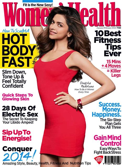 women magazine deepika padukone in women s health magazine india january