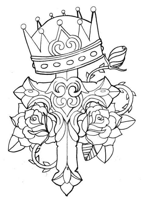 rose tattoo coloring page traditional rose drawing clipart best