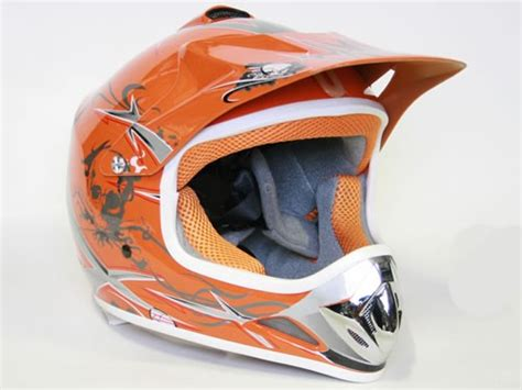 Helm Cross Orange Kinder Helm Cross Helm F 252 R Kinderquad Pocketbike