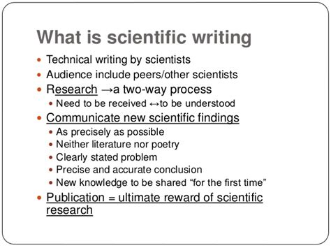 writing a scientific paper for publication how to write and publish a scientific paper