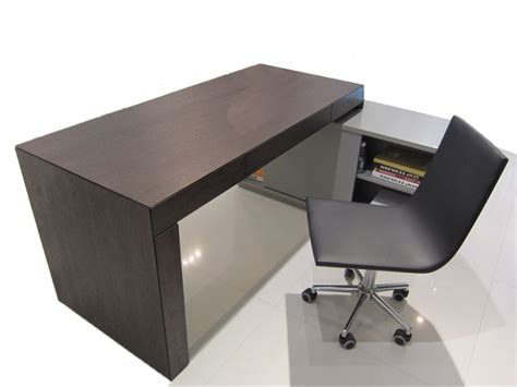 dark wood modern desk high gloss grey wenge s005 modern office desk dark oak