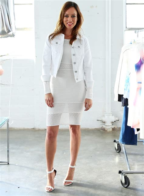 Would You Wear An All Denim Like On Project Runway Last by How To Wear White Denim This Summer Glam Radar