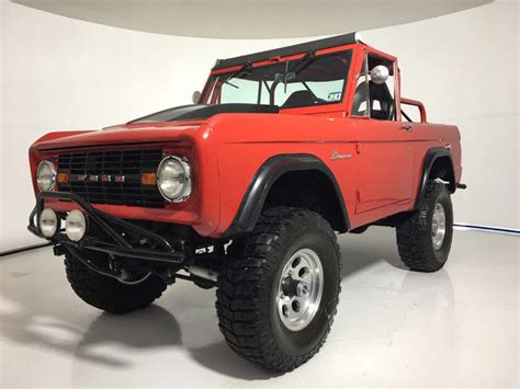 1971 ford bronco red suv manual classic ford bronco 1971 for sale