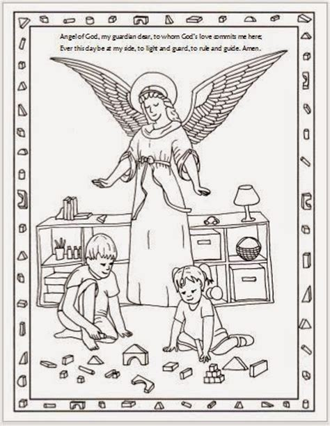 guardian angels coloring page the guardian angel feast day is on october 2 here are