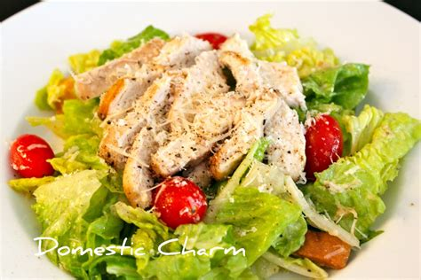 chicken salad domestic charm chicken caesar salad