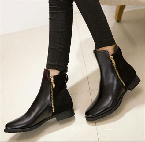 Longch Cuir Matte Size M free shipping autumn fashion ankle leather boots for