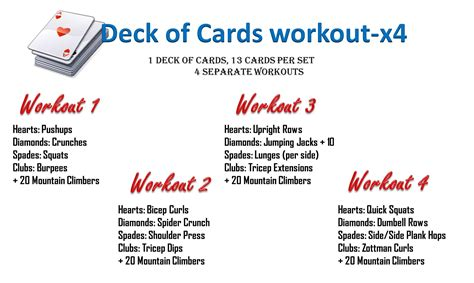 printable deck of cards workout deck of cards workout krhtoday