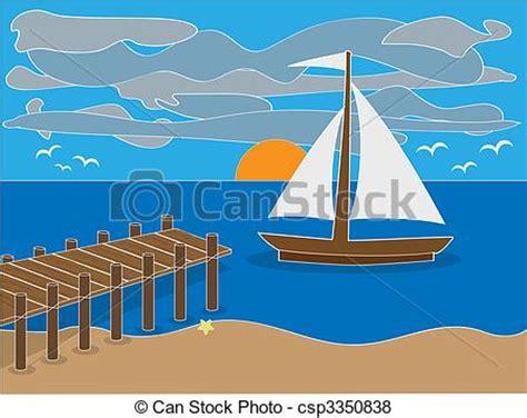 boat dock parts near me vector of sunrise near dock on beach illustration of