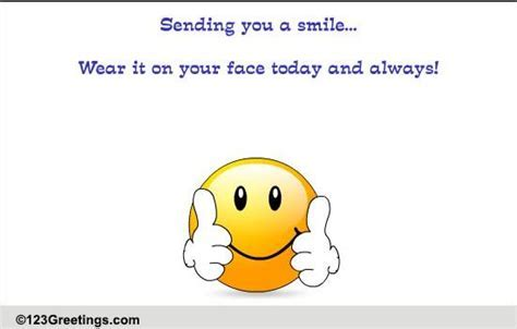 Sending You A Smile! Free Son & Daughter eCards, Greeting