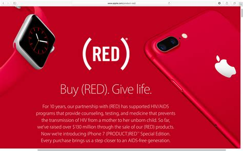 Organization Tips by Apple S Product Red Contributions Have Topped 130 Million
