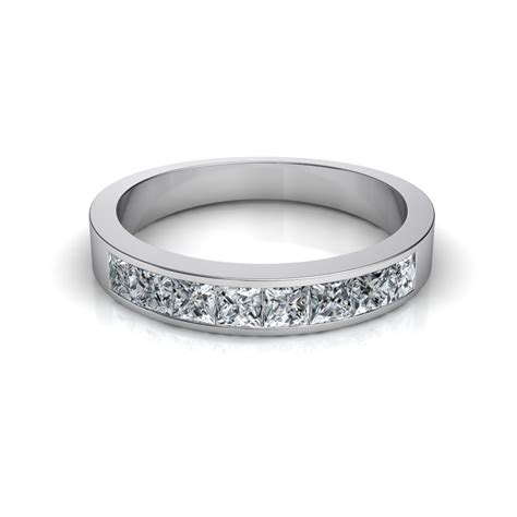 Wedding Bands With Princess Cut Diamonds by 0 66 Ct Princess Cut Channel Set Wedding Band