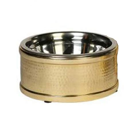 gold designer dog bowls hawthorne collection hton dog bowl gold with same day shipping baxterboo