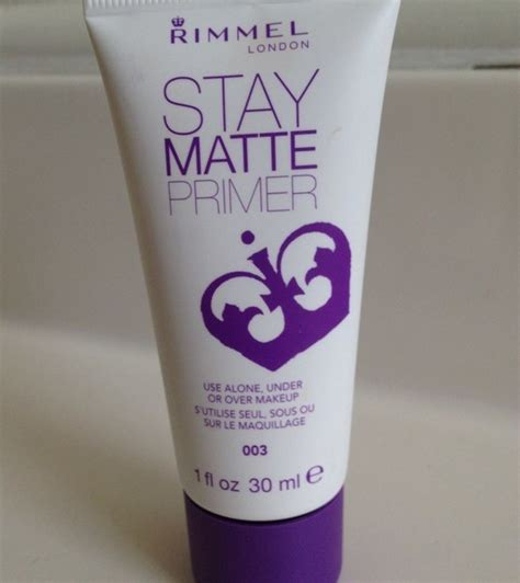 Rimmel Stay Primer rimmel stay matte primer review