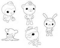 coloring pages octonauts drawing