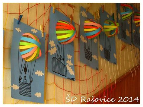 3d Construction Paper Crafts - 3d construction paper air balloon craft elementary
