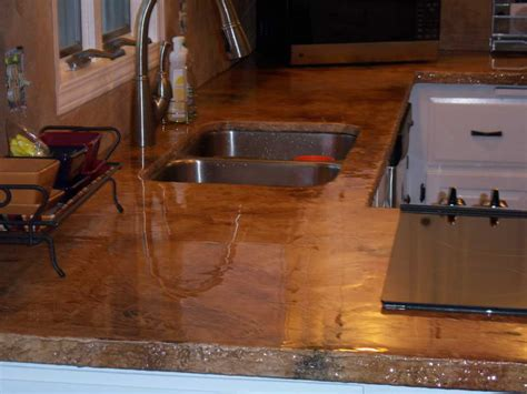 kitchen concrete countertops poured with window design