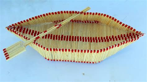 how to make a boat with waste material how to make a matchstick boat easy match art diy craft