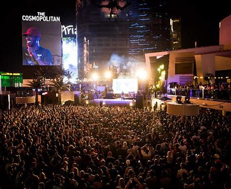 Strip House Downtown kid cudi performs at the boulevard pool at the