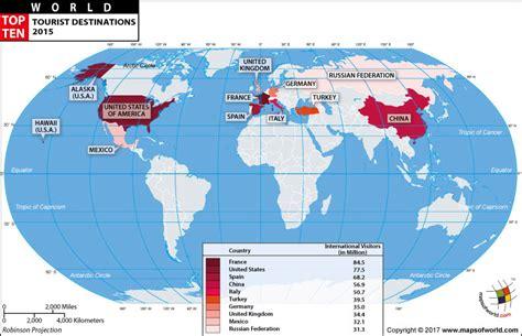 world map highlight cities tourist destinations in the world top ten