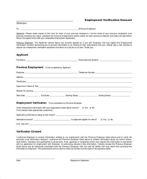 employment verification form template landlord elegant studiootb