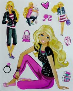 free shipping static sticker barbie princess children disney barbie wallies wallstickers litenleker se