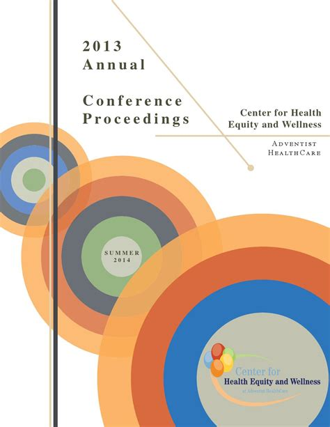 Mba Annual Conference 2013 by 2013 Annual Health Disparities Conference Proceedings By
