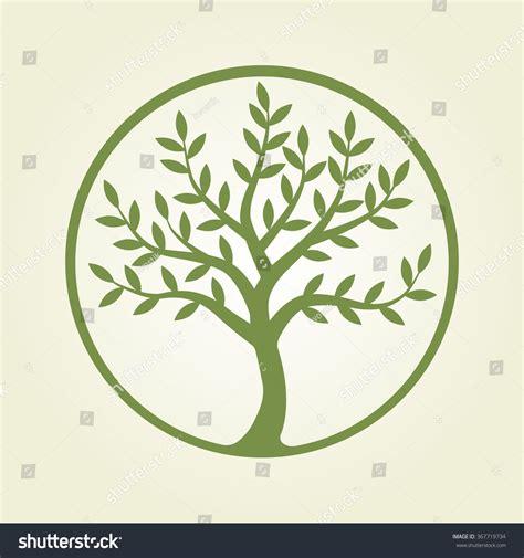 Logo Tree Green Circle Plant Nature Stock Vector 367719734 Shutterstock Green Circle Tree Vector Logo Design Stock Vector 235140895
