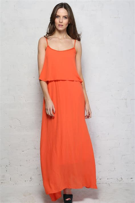 Coral Maxi by Coral Maxi Dress 1970s Style Dress Daphnea