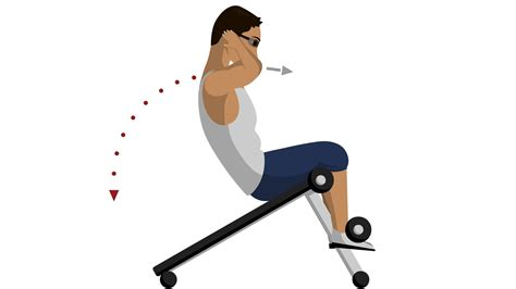 incline bench sit ups incline sit up abdominal exercises youtube