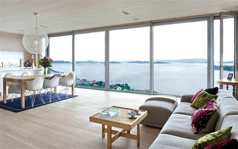 Home Interior Furniture Design glass walls amazing views northface house norway by
