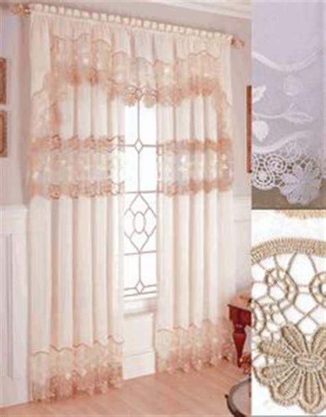 lorraine home fashions seville ecru curtains seville window treatments window treatments lace and sheer curtains