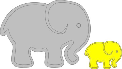 Clipart Baby Elephant elephant with baby elephant clip at clker
