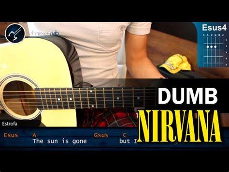 youtube tutorial nirvana como tocar dumb de nirvana en guitarra acustica hd