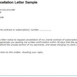 Membership Cancellation Letter Template Free by Membership Cancellation Letter Template Best