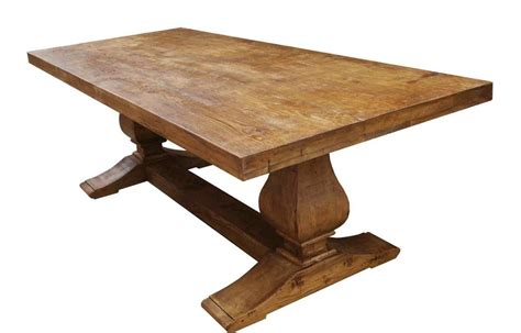 made segovia reclaimed wood trestle dining table by