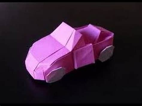 How To Make A Car Paper - origami car origami paper how to make origami car hd