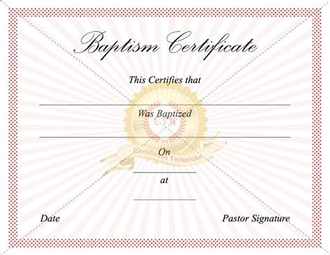 baptism certificate templates certificate of baptism cake ideas and designs