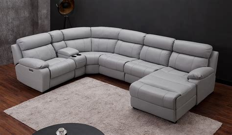 U Shaped With Recliner by Novell U Shape Recliner Sofa Top Grain Leather Delux Deco