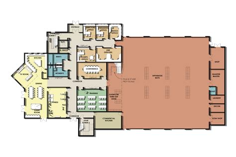 fire department floor plans fire station floor plans and designs moreover mercial