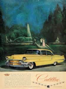 Yellow Cadillac 1956 Ad Yellow Cadillac Motor Car Division Auto Park