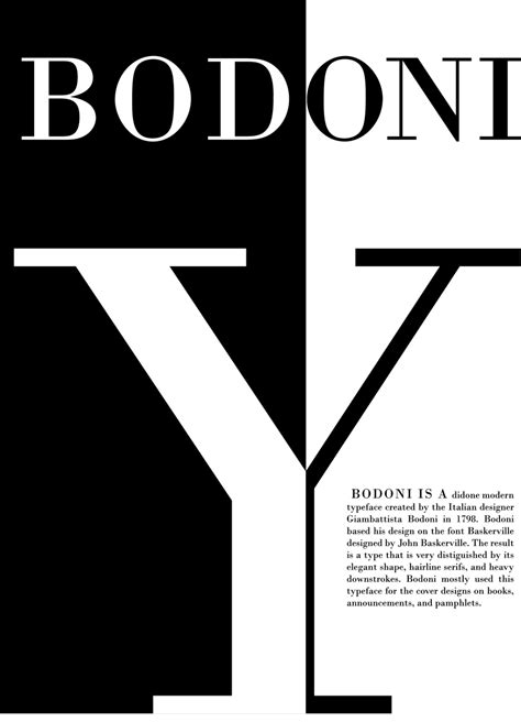 typography and typeface bodoni typeface poster by l on deviantart