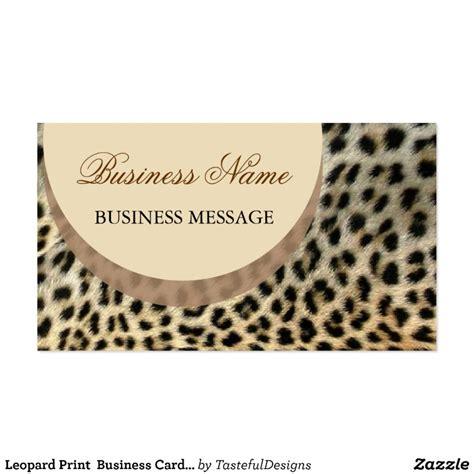 animal print business card template leopard print business card template zazzle